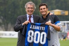 Javier ´Superman´ Zanetti and Massimo Moratti