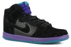 Nike SB Dunk High Pro Premium SB Skate Shoes - black/black/grape ice - Shoes > Men's Footwear > Skate Shoes