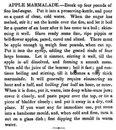 Apple Marmalade  New Receipts for Cooking     By Eliza Leslie    1852    pg 171