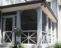 screened in porch | Porch Railing Criss Cross Design, Pictures, Remodel, Decor and Ideas ...