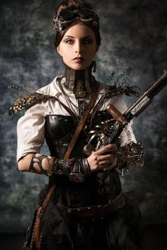 From the Steampunk Fashion Guide's Guide to Corsets - Overbust corsets: Woman in overbust corset https://www.steampunkartifacts.com/collections/steampunk-glasses