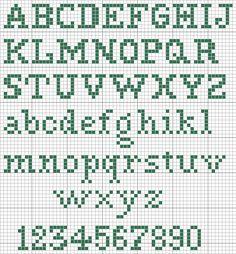 Cross stitch English alphabet and Arabic numbers. Cross Stitch Letter Patterns, Cross Stitch Letters, Cross Stitch Charts, Cross Stitch Designs, Cross Stitch Embroidery, Cross Stitching, Stitch Patterns, Cross Stitch Font, Embroidery Patterns