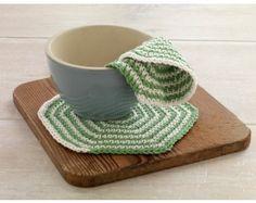 Crochet Two Color Dishcloth