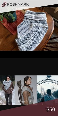⭐️New⭐️Crocheted Huntress Cowl Inspired by Katniss. Handmade by yours truly! Made with an acrylic/wool blend that is so warm, but also easy to wash! Crochet by AKA Accessories Scarves & Wraps