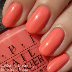 OPI: Time for a Napa from the new California Dreaming summer collection.