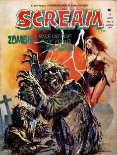 Scream (No.5 April 1974)  Cover art by Fernando Fernandez
