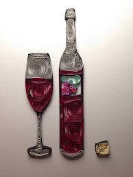 Image result for quilled wine bottle