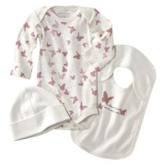 New organic butterfly layette from Burts Bees. Sweet!