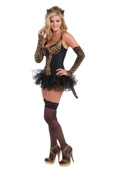 Look absolutely puuurfect this Halloween in our Rubies Leopard Kitty Costume! The costume includes the dress, glovelets, boy shorts, tail, and the ears. Animal Halloween Costumes, Halloween Costume Contest, Cat Costumes, Costumes For Women, Kitty Costume, Halloween Makeup, Leopard Costume, Toddler Costumes, Black Boys