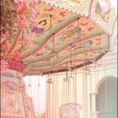 Pastel and pretty Vintage Carnival, Vintage Circus, Lolita Anime, Circus Aesthetic, Carnival Rides, Fun Fair, Merry Go Round, Carousel Horses, Favim