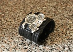 "Men's wrist watch  leather bracelet  ""Tuareg-2"" - SALE - Worldwide Shipping - Steampunk watches"