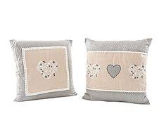 Set de 2 cojines en algodón Hearts - 40x40 cm