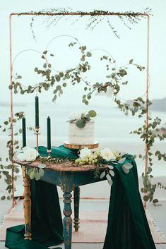 Trendy Bohemian Wedding Decorations ❤ bohemian wedding decorations reception dessert stand hanging hoops with greenery and white flowers latophotography #weddingforward #wedding #bride #bohowedding #bohemianweddingdecorations