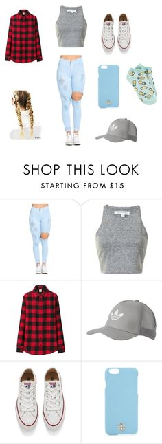 """Mia's ootd"" by emmagrayy on Polyvore featuring Uniqlo, adidas Originals, Converse, Tory Burch and Forever 21"