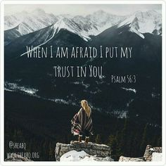 《When I am afraid, I put my trust in You.》 Psalm 56:3  The Lord of Hosts who reigns over all the earth and everything in it has your name inscribed in the palms of His hands and no one or nothing can snatch you away from Him! #sheabq #godiswithme #inthebooks #inscribedinthepalmofhishands #hope #trust #nofear #faith #scripture #sheministries