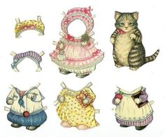 Kitty Cucumber paper doll by B. Shackman & Company, Inc.