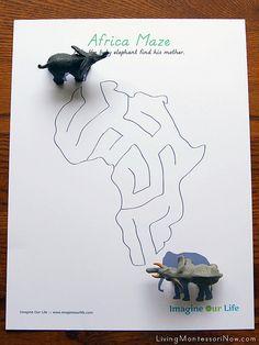 Montessori Monday: Montessori-Inspired Continent Activities Using Replicas - Africa
