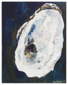 Art Gallery at Maine Cottage | Dark Oyster by Kim Hovell