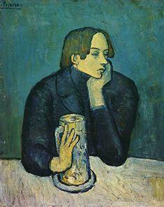 Pablo Picasso.  O Poeta Sabartés - 1901 (Fase azul)