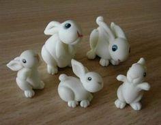 Famiglia di #coniglietti #pasquali al completo...e la Pasqua prende vita nelle #decorazioni!