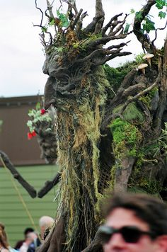 Tree Spirit by croctommy, Forest Creatures, Fantasy Creatures, Green Man, Tree Costume, Tree Faces, Tree People, Nature Spirits, Tree Carving, Beltane