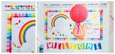 Hello Sunshine - SchoolgirlStyle www.schoolgirlstyle.com  rainbow classroom decor, unicorn classroom theme, classroom organization, teacher desk, bulletin boards, rainbow decor, birthday set Birthday Tags, Blue Birthday, Rainbow Birthday, Rainbow Theme, Classroom Crafts, Classroom Themes, Future Classroom, Classroom Organization, Teacher Supply Store