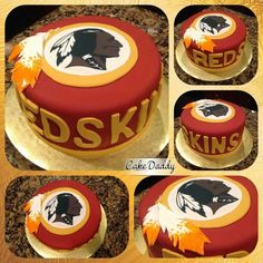 cakes that have a theme Redskins Cake, Redskins Wreath, Redskins Stadium, Redskins Helmet, Redskins Football, Football Team, Sports Themed Cakes, Birthday Cake For Husband, Sport Cakes