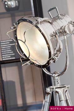 LAMP ALUMINIUM MOVIESPOT NICKEL INDUSTRIEEL ROFRA Home meubelen en interieur accessoires