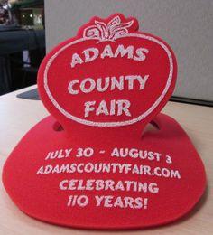 #promotionalproducts #promos #promoproducts #promotionaliteams #tradeshows #tradeshowswag #SignaramaColorado #Signs #colorado Foam Hats for Adams County Fair