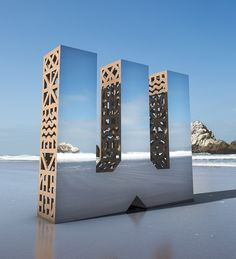 "Mirrored and Wooden Letter Sculptures American studio Character participated in the Bay Area's largest design event, San Francisco Design Week with their new project ""Look Closer."" The project is..."