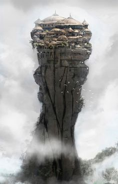 Fantasy Landscape Ruins Matte Painting 18 Ideas For 2019 Fantasy City, Fantasy Kunst, Fantasy Places, Fantasy World, Fantasy Island, Fantasy House, High Fantasy, Environment Concept, Environment Design