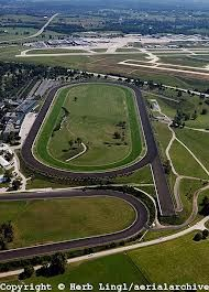 Keeneland race track  -  Lexington, KY  -  the horses run in spring & fall meets in April & October