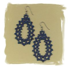 Tatted Lace and Bead Earrings by ElizabethsLace