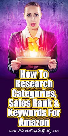 How To Research Categories, Sales Rank & Keywords For Amazon Kindle Sales | Author Marketing. Author marketing is actually kind of fun. It allows me to take all the bits from other kinds of marketing that I already understand and put them together to make a brand new form that helps with book sales.  Today we are going to be talking about doing research for your Kindle eBooks for sale on Amazon. In some ways doing Amazon ranking research is just like researching for Google SEO keywords.
