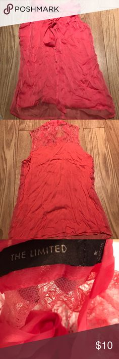 The Limited Sz M Tangerine Sleeveless top The Limited Sz M Tangerine Sleeveless top The Limited Tops Blouses