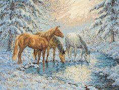 Horses - Cross Stitch Patterns & Kits.  /So beautiful EL./