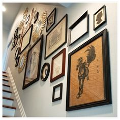 I should seriously spice up our staircase gallery with some more interesting elements like these!