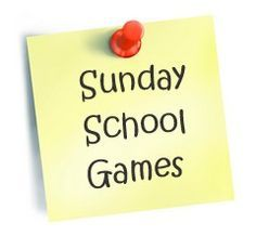 Sunday school game ideas.