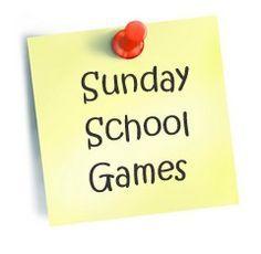 Sunday school game ideas.