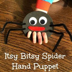 Itsy Bitsy Spider Finger Puppet for Fine Motor Play - Nursery rhyme crafts Nursery rhymes activities Rhyming activities Toddler crafts Nursery rhymes preschool Crafts - Nursery Rhyme Crafts, Nursery Rhymes Preschool, Preschool Art, Nursery Activities, Spider Art Preschool, Childrens Crafts Preschool, October Preschool Crafts, Pre School Crafts, Nursery Rhyme Theme