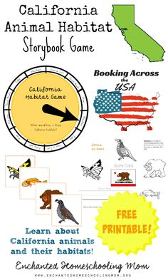 California is full of great places to see from National Parks to Disneyland to long stretches of sandy beaches to historical sites too, but what about the great writers and illustrators of storybooks that call or called California home? Come see how the resident of California Dr. Seuss impacted children's storybooks and get a FREE California Animal Habitat Storybook Game to play as part of the Booking Across the USA! Stop by today for all your state themed storybook fun!