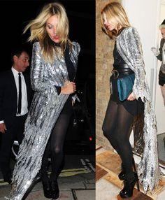 la modella mafia Kate Moss 2014 night out in a sequin cover up
