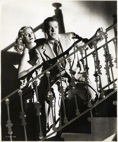 "Michèle Morgan and Robert Cummings in a press photo for ""The Chase"" (Arthur Ripley, 1946)"