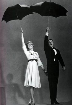 Julie Andrews and Gene Kelly. Singin' in the Rain and Mary Poppins simultaneously. I think I found my new favorite picture.