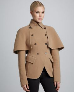 #ScandalMania I Can see #OliviaPope Wearing this on the way to make out with Fitz! LMBO  Donna Karan Double-Breasted Cutaway Jacket, Camel $2,995.00