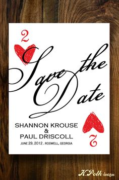 VIva Las Vegas - Save the Date Postcard. $0.90, via Etsy.