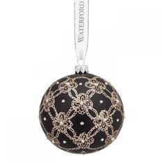 Waterford Pearls and Lace Ball Ornament -- Click image to review more details. (This is an affiliate link) #UsefulHomeDecor