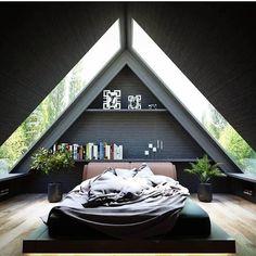 26 Ideas Bedroom Interior Design Inspiration Lights For 2019 Interior Design Inspiration, Home Interior Design, Interior And Exterior, Modern Interior, Kitchen Interior, Design Ideas, New Bedroom Design, A Frame House, Tiny House Design