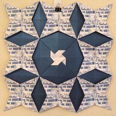 origami (paper) quilt - whovian Origami Quilt, Origami Paper, Paper Quilt, Paper Crafts, Quilts, Blanket, Design, Tissue Paper Crafts, Paper Craft Work
