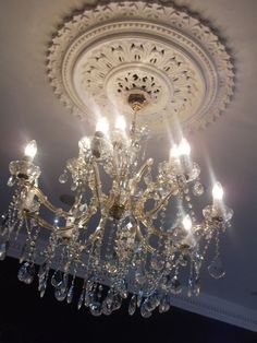 great light and ceiling medallion